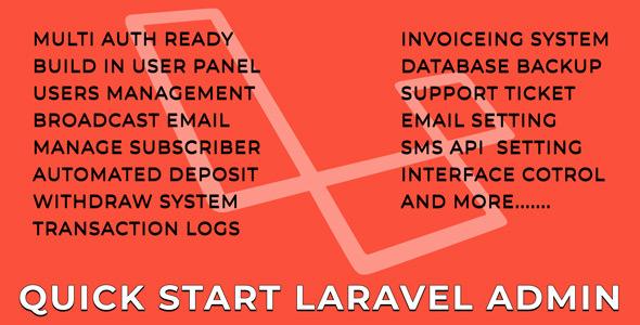 AdminIO - QuickStart Laravel Admin Panel