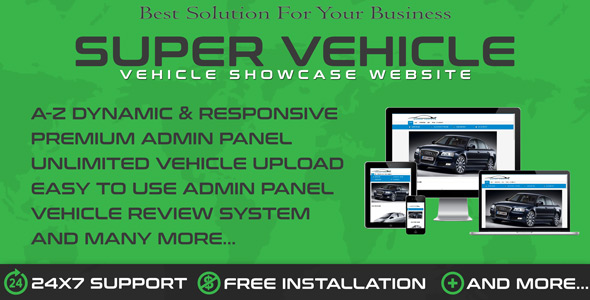 Auto Dealership & Vehicle Showroom WebSys