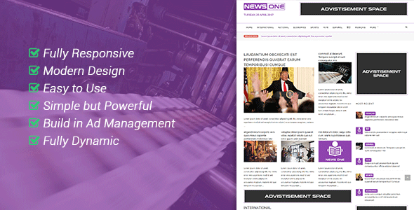 NewsOne - Creative Solution For Newspaper Magazine & Blog