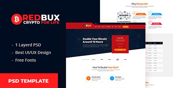 RedBux - Bitcoin Doubler PSD Templates