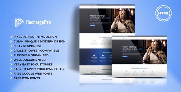 RechargePro - Online Mobile Recharge HTML Template