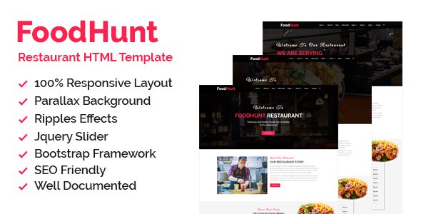 Thesoftking Foodhunt Restaurant Html Responsive Template