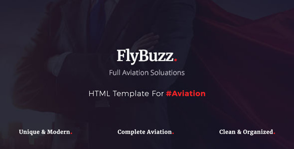 FlyBuzz - Aviation Business HTML Templates