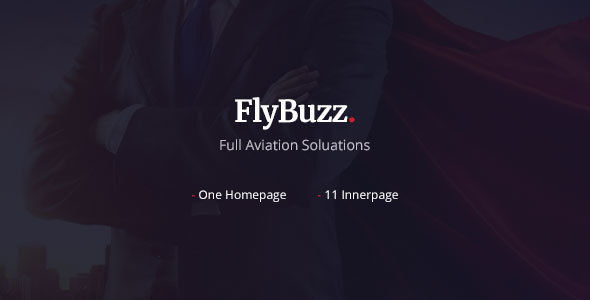 FlyBuzz - Aviation Business PSD Templates