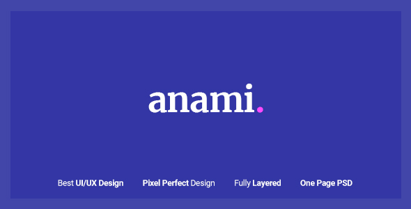 Anami - Creative Agency PSD Templates