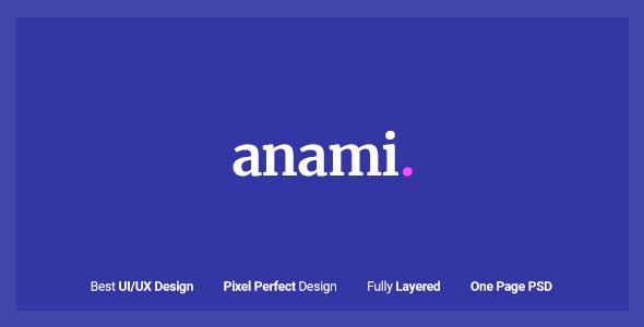 Anami - Creative Agency PSD Templates