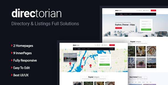 Directorian - Directory Listing HTML5 Template