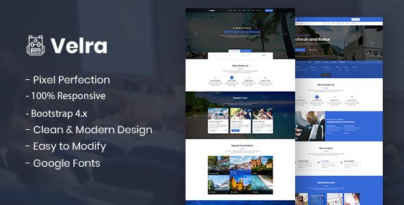 Velra - Travel Transport Business HTML Template