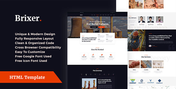 Brixer - Brick Field Industry HTML Template