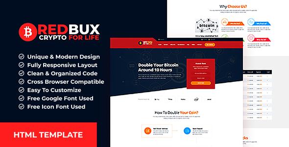 RedBux - Bitcoin Doubler HTML Templates