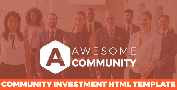 Awesome Community -  Financial Business HTML Template