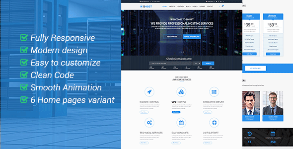 sHOST - WebHosting Business HTML Template