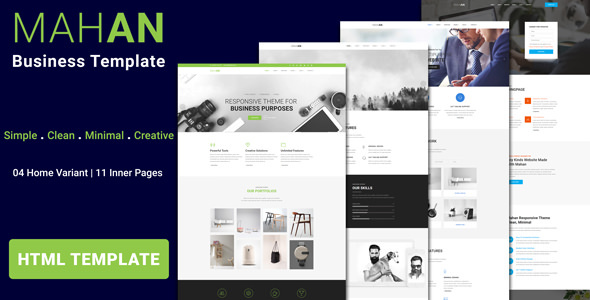MAHAN - Multipurpose Agency Corporate HTML Template