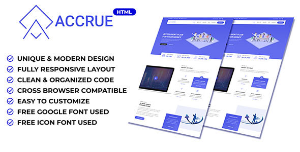 Accrue - Investment Website HTML Templates