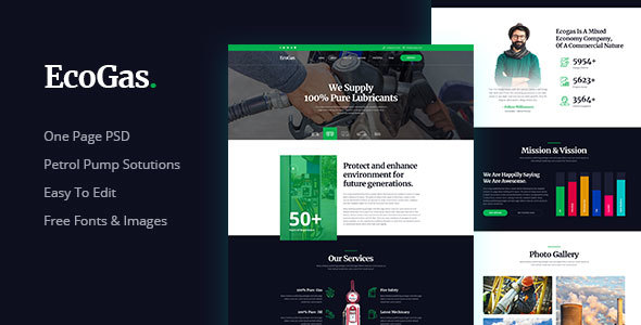 EcoGas - Petrol Pump Business PSD Templates