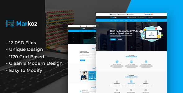 Markoz - Hosting Business Template