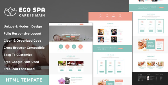 EcoSpa - Spa Center And Beauty Parlour HTML Template