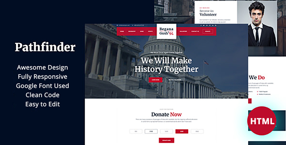 Pathfinder - Political HTML5 Templates