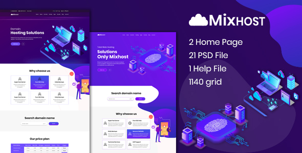 MixHost - Web Hosting PSD Template