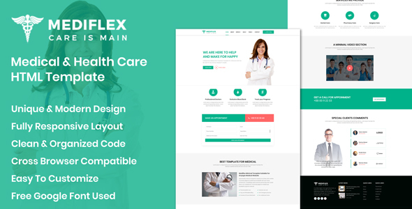 Mediflex - Medical Doctor & Health Care HTML Template