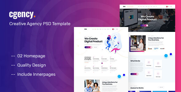 Cgency - Creative Agency PSD Template