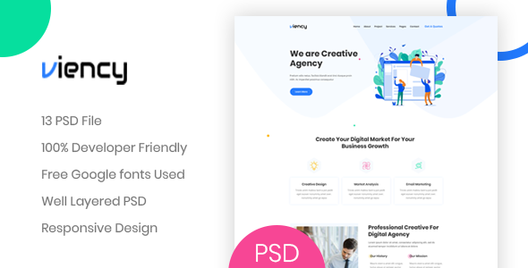 Viency - Agency PSD Template