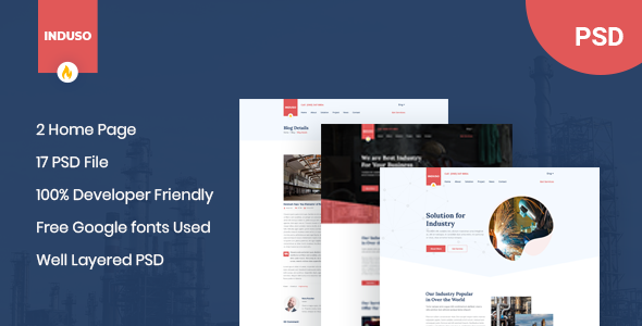 Induso - Industry PSD Template