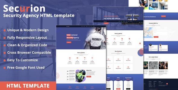 Securion - Security Agency HTML Template
