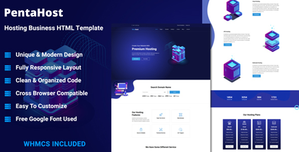 PentaHost - Hosting Business HTML Template