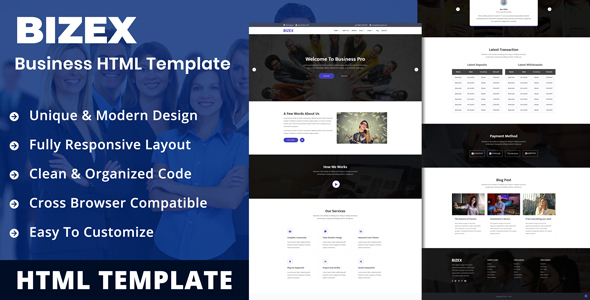 Bizex - Professional Business HTML5 Templates
