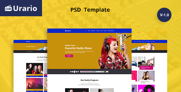 Urario - Online Radio Psd Template