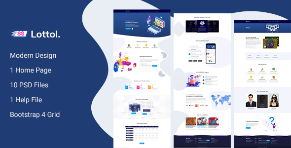 Lottol - Online Lotto PSD Template