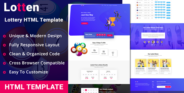 Lotten - Lottery HTML Template