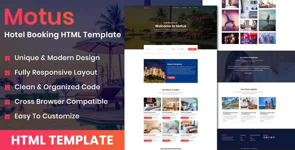 Motus - Hotel Booking HTML Template