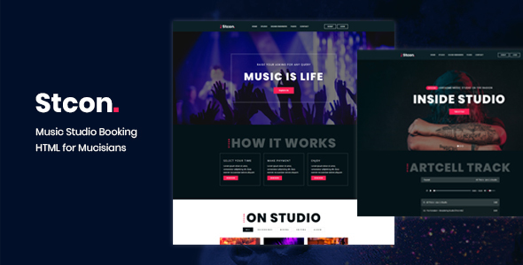 Stcon - Studio Booking HTML Template