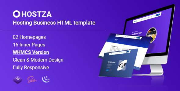 HostZa - WebHosting Business HTML Template