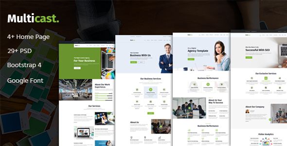 Multicast - Multipurpose Business PSD Template