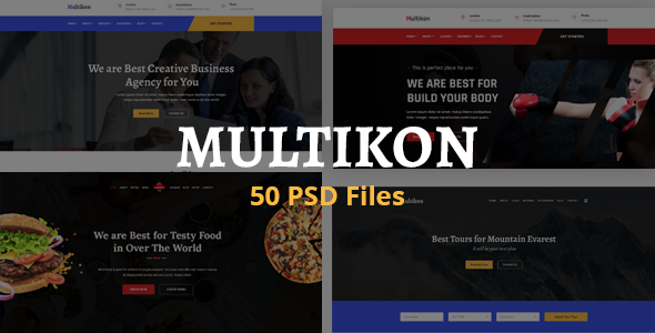 Multicon - Multipurpose Business PSD Template
