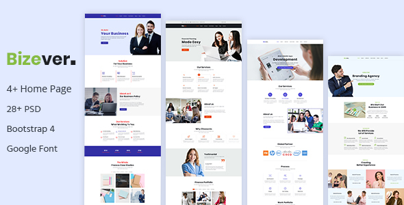 Bizever - Multipurpose Business PSD Template