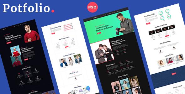 Portfolix - Personal Portfolio PSD Template