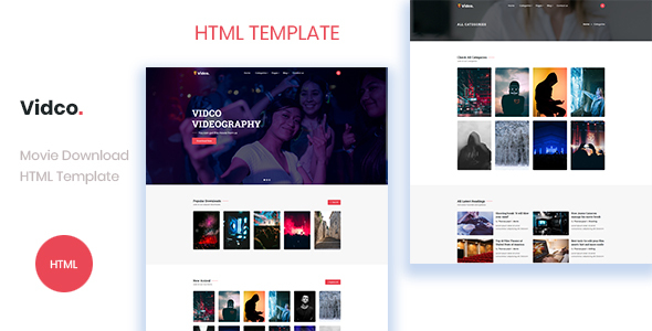 Vidco - Digital Content Download HTML Template
