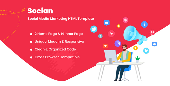 Socian - Social Media Marketing HTML Template