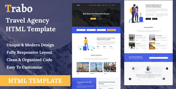 Trabo - Travel Agency HTML Template