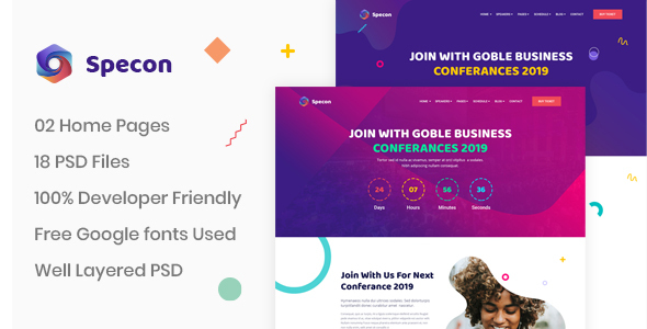 Specon - Conference & Seminar PSD Template