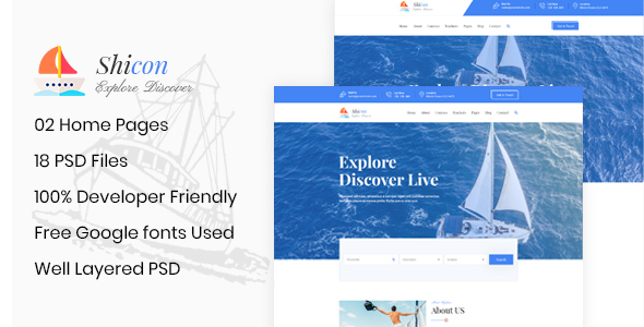 Shicon - Cruises & Water Boat PSD Template