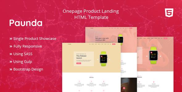 Paunda - Product Landing Page