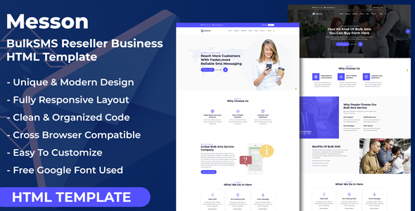 Messon - Bulk SMS Reseller Business HTML Template