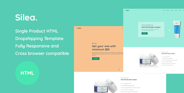 Silea - Onepage Product Landing HTML Template