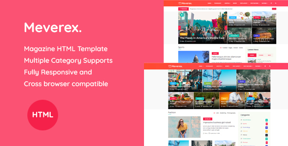 Meverex - Magazine HTML Template