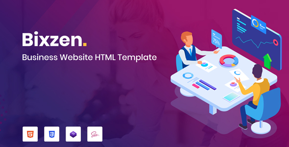 Bixzen - Business Website HTML Template